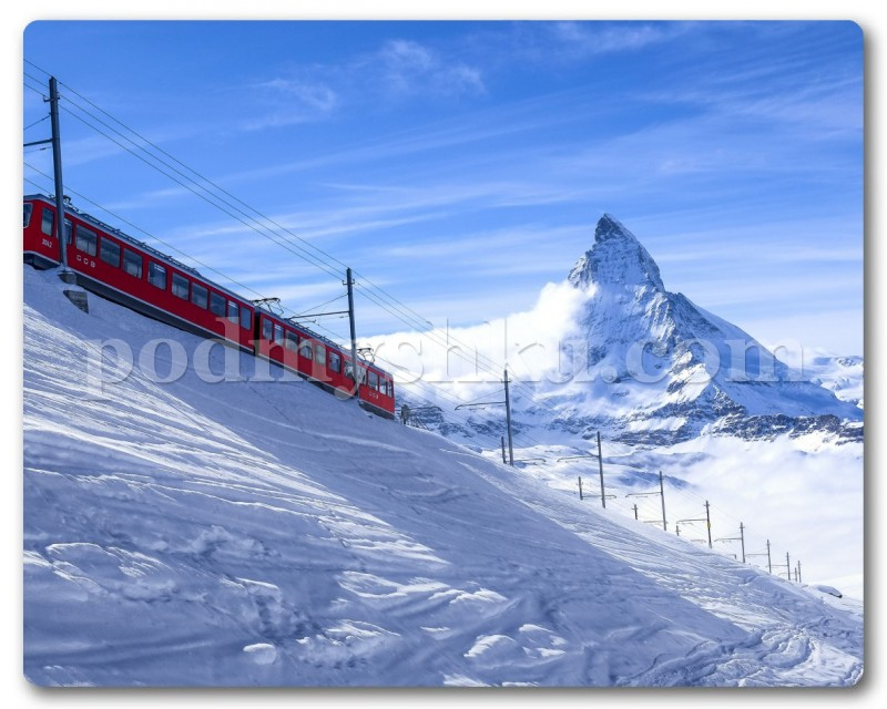 train in mountain